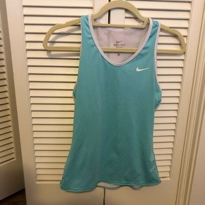 Nike Dry Fit Blue Running Tank Top